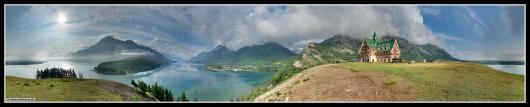 Panorama: Waterton-Lakes-Nationalpark # Kanada